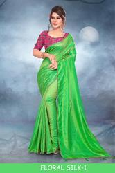 Right One Floral Silk-1 Stylish Party Wear Jacquard Saree