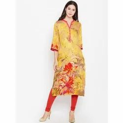 Trendy Digital Printed Crepe Kurti