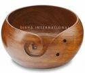 Sheesham Wood Yarn Bowl