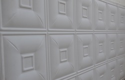 White WPC 3D Wall Panels
