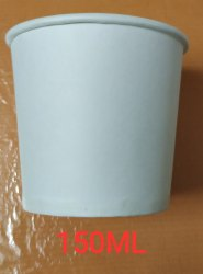 White 150 ml Paper Cup, Packet Size: 100