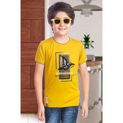b60fb7c0 Cotton Printed Kids Round Neck T Shirt, Packaging Type: Box