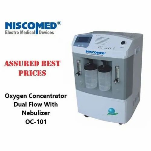 Niscomed Oxygen Concentrator, Model Name/Number: OC 101, Weight: 25 kgs, |  ID: 21061916130