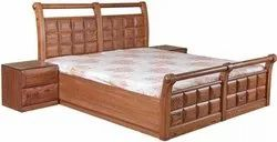Briscut Wooden Bed King Size, Without Box