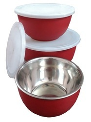 Red Microwave Safe Bowl, Size: 16cm, 18cm, 20cm