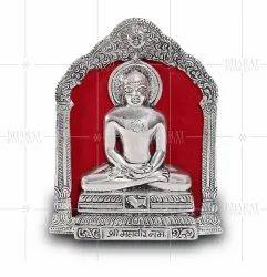 Silver Plated Mahavir Swami Photo Frame