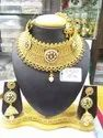 Gold Party Wear New Designer Polki Necklace Set