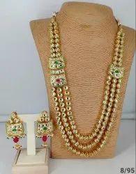 Kundan Golden Necklace Set