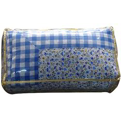Blue Printed Single Dohar Quilt