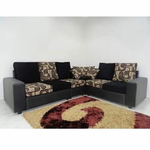 L Shape 5 Inch Designer Sofa, Back Style: Pillow Back