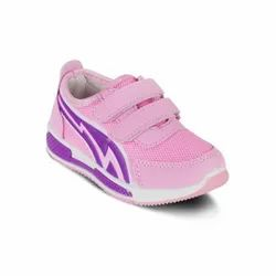 Kids Pink Velcro Sports Shoes