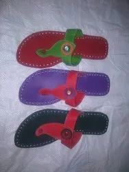 Women Ethnic Genuine Leather Colorful Kolhapuri Chappal