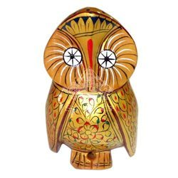 Wooden Painted Owl