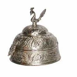 Silver Plated Brass Sindoor Box