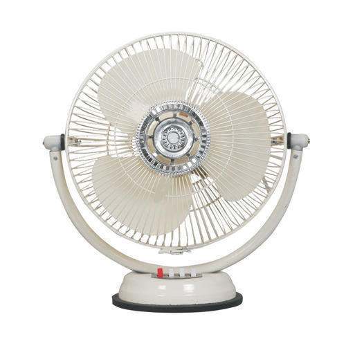 Stainless Steel White Electric Table Fan