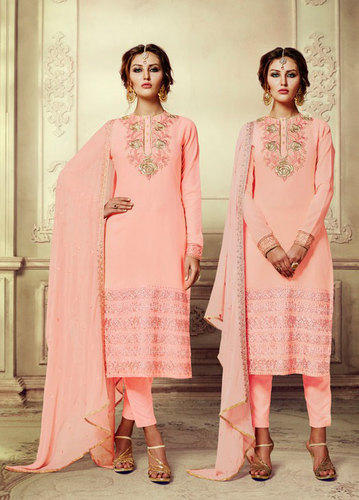 9a0bd3b857 Georgette And Chiffon Straight Salwar Kameez, Rs 1199 /piece | ID ...