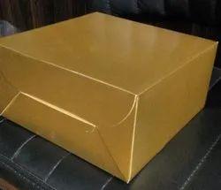 Golden Mat Cake Box