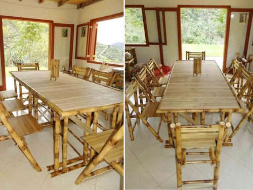 Standard Bamboo Chair Rs 800 Square Feet Thatched Roof Eco