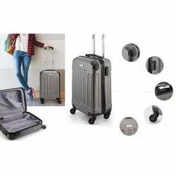 Grey And Black Plain Trolley Bag, Size: 35 X 23 X 40 cm, 4 Wheel
