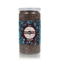 Ottimo Hub Natural Flax Seeds, Packaging Type: Plastic Jar, Packaging Size: 125grams