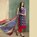 Chanderi Silk Embroidered Salwar Suit