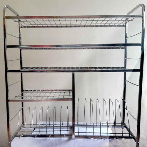 Elegant Stainless Steel Wall Mounted Kitchen Rack Hemratna Steels Palghar
