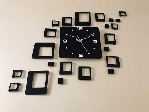 Aerina 3d Acrylic Wall Clock Design For Living Room Bedroom Wall Home And Office Black At Rs 300 Piece Opp Rajhans Tower Surat Id 22350583830