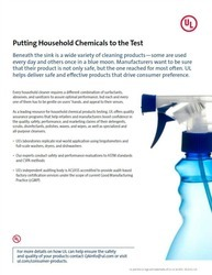Cleaning Products Testing Services