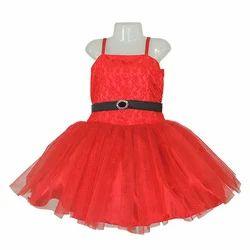 Kids Red Party Wear Frock