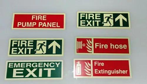 Auto Glow Fire Signage