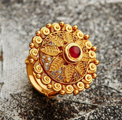 Gold Ring View Specifications & Details of Gold Rings by Khazana