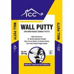 ICC Polymer Based Cement Wall Putty, Packaging Type: Plastic Bag, Packaging Size: 20 Kg