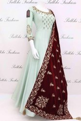 New Gown With Dupatta