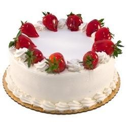 1 Kg Strawberry Cream Cake Delivery