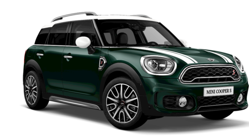 Chilli Red Black Roof And British Racing Green White Roof Mini