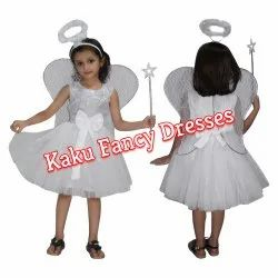 White Long Net Gown For Fairy Angel