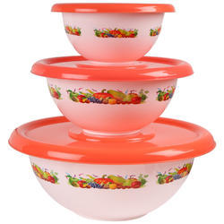 Plastic Bowls with Lid Printed