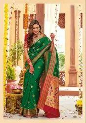 Banarasi Silk Saree,  6 m (With Blouse Piece)