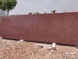 Polished Gem Red Granite Slab, For Flooring, Thickness: 15-20 mm