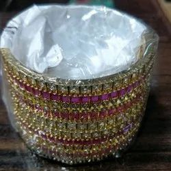 Designer Imitation Stone Bangle, Packaging Type: Box