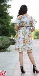 Ladies Printed One Pieces Dress