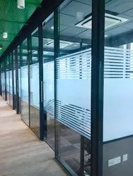 Toughened Glass Cabin Partition