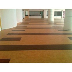 Brown Composite Vinyl Flooring, Thickness: 5 Mm