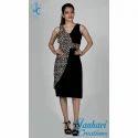 Black Cheeta Print Stylish One Piece Dress