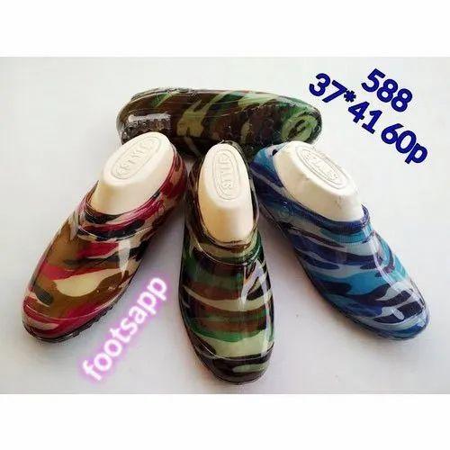 Footsapp Ladies TPR Sole Rainy Shoes