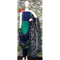 Ladies Blue and Green Unstitched Suit