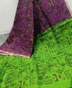 Block Print On Silk Cotton Handloom Sarees