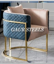 Gaur steels For Home SS PVD Coated Chair