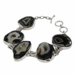 Modern Style 925 Sterling Silver Druzy Bracelet
