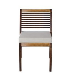 AbodeStyle Brown And White Wooden Chair, Size: 46 (l) X 47 (w) X 82 (h) Cm